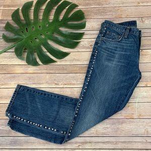 Current Elliot stud trim Fling boyfriend jeans